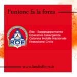 Comunicato stampa: nuova collaborazione con la protezione civile di Roma